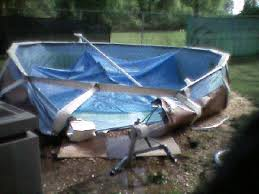Broken Above Ground Pool