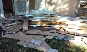 Interior Home Debris at a Foreclosure Clean Outs