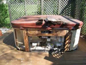 Old and Broken Hot Tub