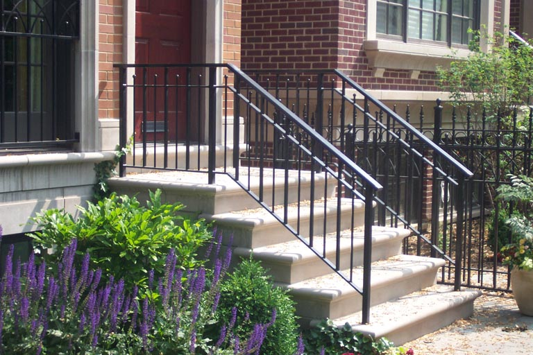 How to remove wrought iron railings junk garbage removal - Exterior wrought iron handrails for steps ...