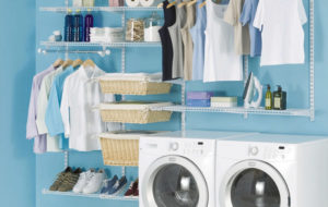 closet laundry room conversion