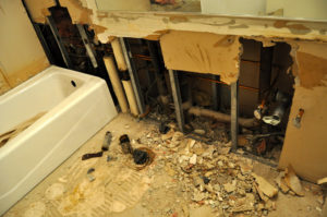 bathroom tile removal