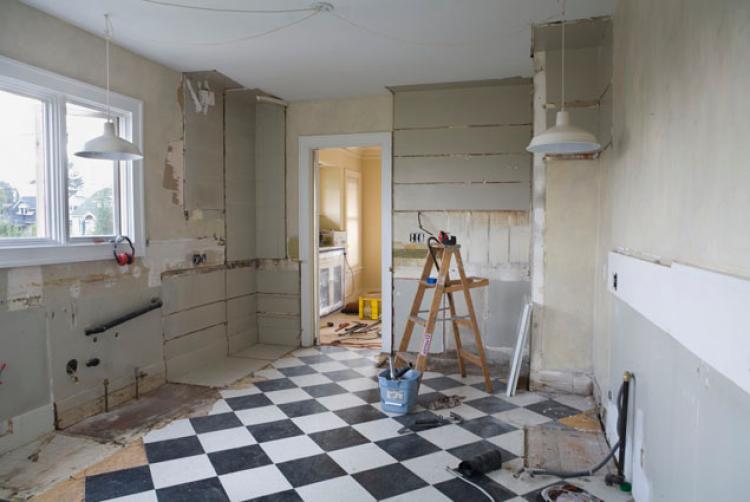 kitchen soffit removal