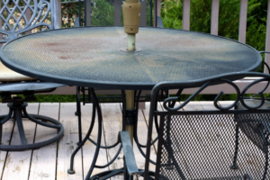old metal patio furniture disposal