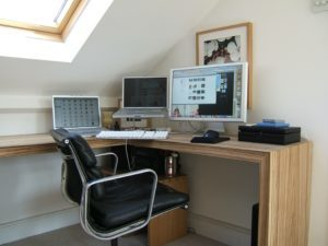 bedroom-home office conversion