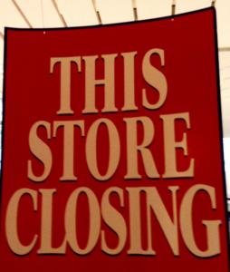 retail store display case disposal