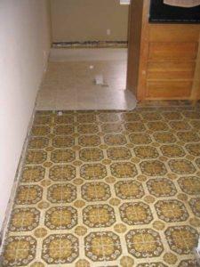 linoleum floor removal