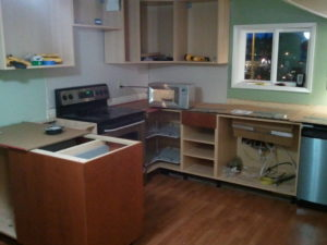 kitchen cabinet removal
