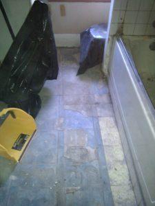 sheet vinyl flooring removal