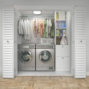 closet-laundry conversion