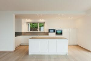 DIY kitchen island removal