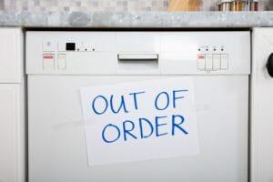 dishwasher failure signs