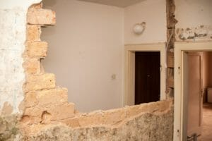 partition wall take-down