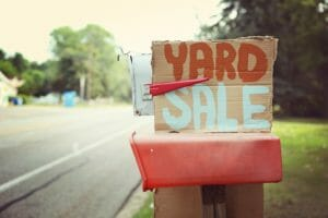 yard sale money-making