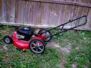 grass mower disposal