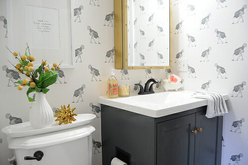 minor bathroom remodel