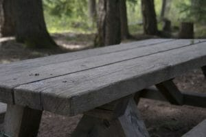 picnic table junking